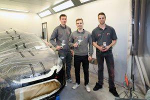 Paint Team At Ace Car Body Repairs Shrewsbury Telford