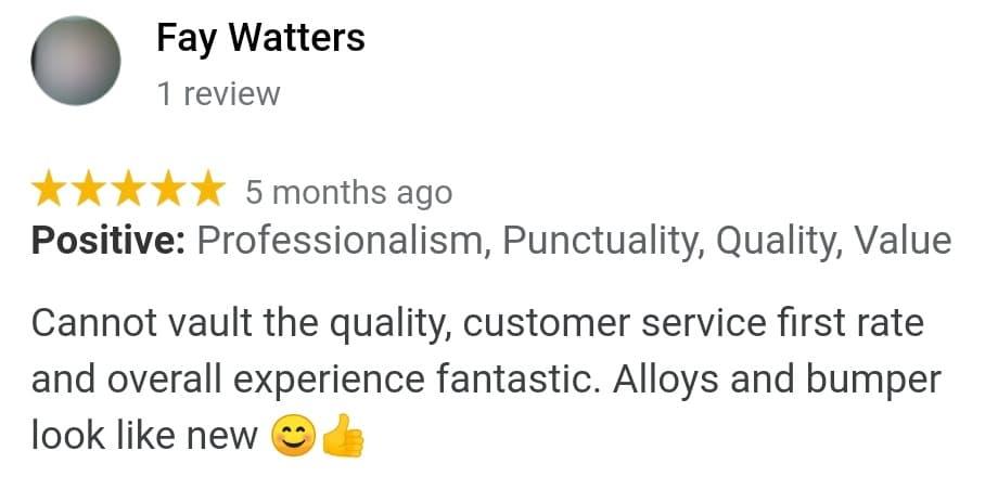 Fay Watters Review Of Ace Car Body Repairs Shrewsbury