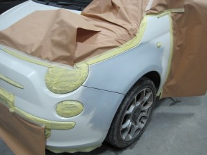 During Dented Front Wing Repair