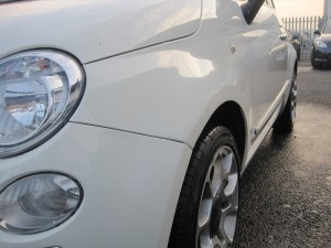 Fiat Dented Wing Repaired