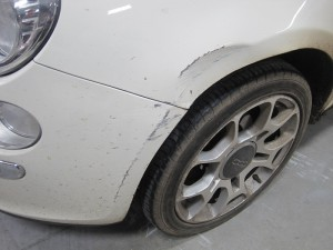 Fiat 500 Dented Wing