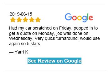 Painted Bumper Scuff Repair Customer Review