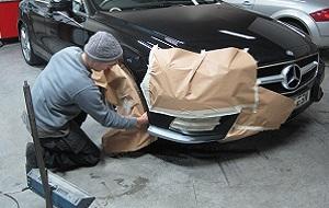 Masking A Bumper Scuff Repair