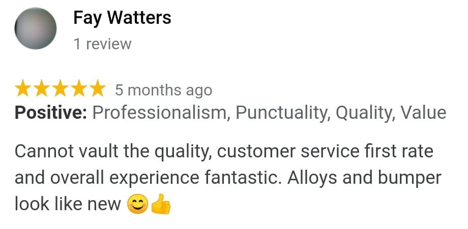 Fay Watters Review Of Ace Car Body Repairs Shrewsbury